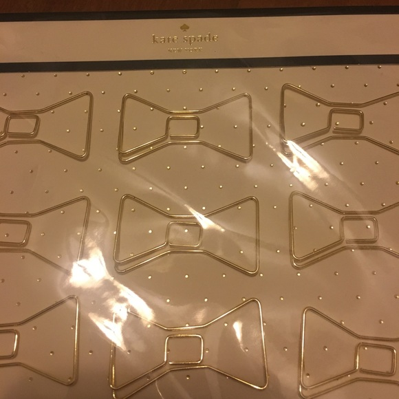 kate spade Accessories - BNWT Kate Spade Bow Paperclips